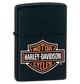 Zippo Zippo Lighter - Black Matte Harley Davidson