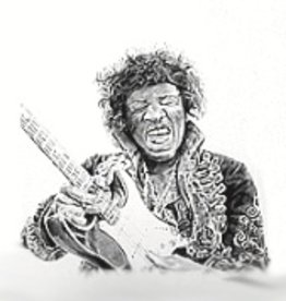 Hand Sketched Posters - Jimi Hendrix (Guitar 1)