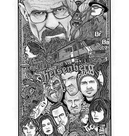 Heidelberg Letterpress Poster Breaking Bad