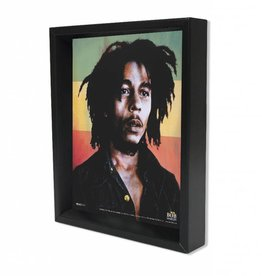 "3D Shadowbox 8""x10"" - Bob Marley Rasta Colors"