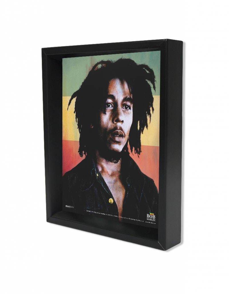 "3D Shadowbox 8""x10"" - Bob Marley Rasta Colors"