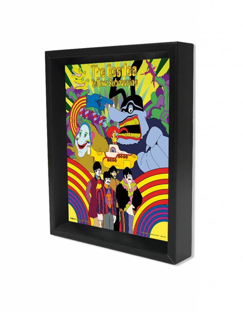 "3D Shadowbox 8""x10"" - The Beatles Yellow Submarine"