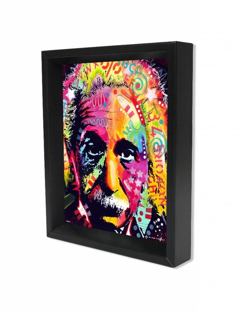 """3D Shadowbox 8""""x10"""" - Einstein Dean Russo"""