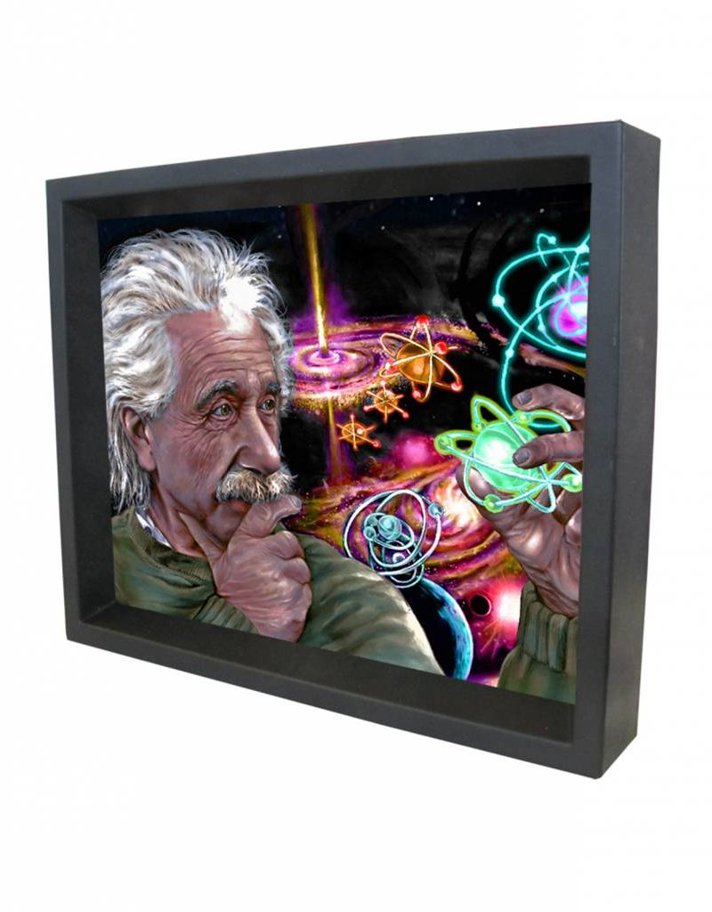 "3D Shadowbox 8""x10"" - Einstein James Danger Quasar Color"