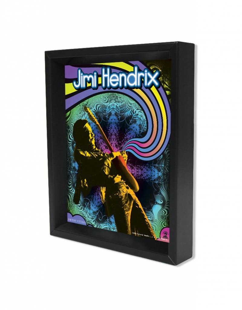 "3D Shadowbox 8""x10"" - Jimi Hendrix Guitar Solo"
