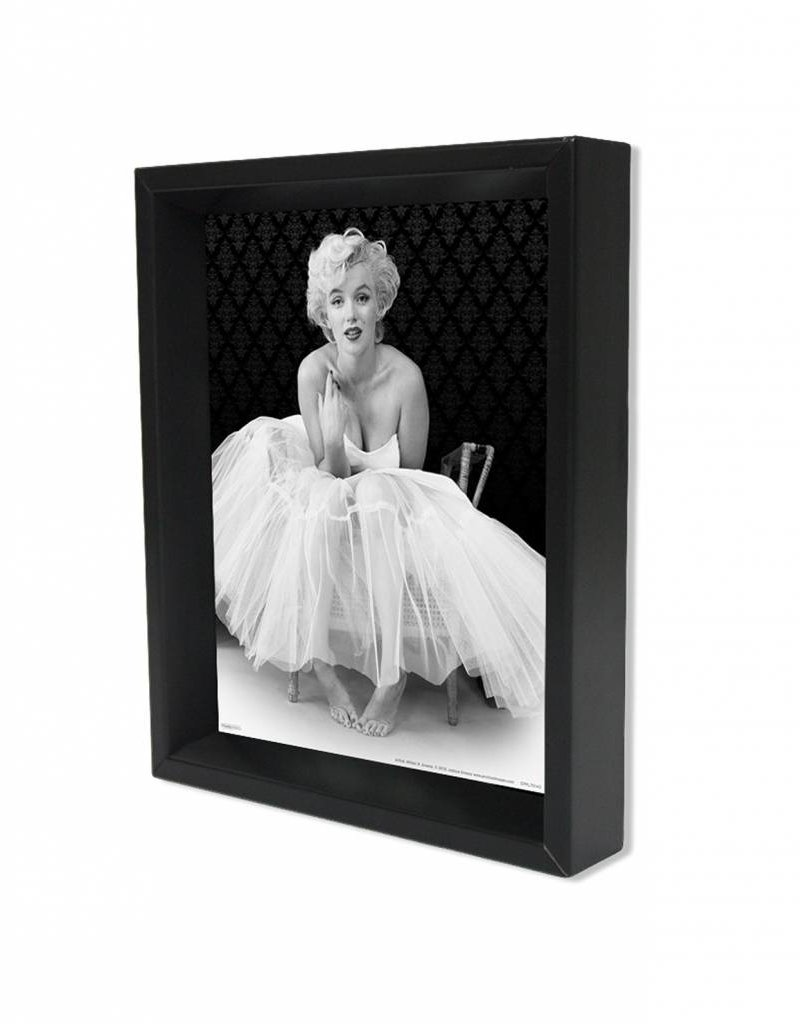 "3D Shadowbox 8""x10"" - Marilyn Monroe Ballerina"