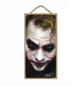Wood Door Hanger Plaques 5 x 10 The Joker (Close-up)