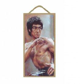 Wood Door Hanger Plaques 5 x 10 Bruce Lee