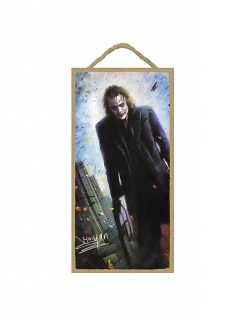 Wood Door Hanger Plaques 5 x 10 The Joker