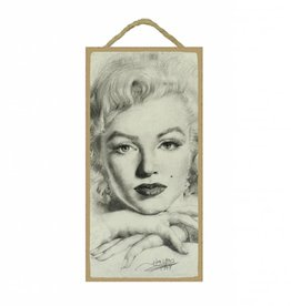 Wood Door Hanger Plaques 5 x 10 Marilyn Monroe Close-Up