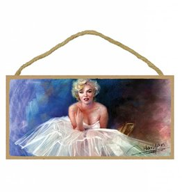 Wood Door Hanger Plaques 5 x 10 Marilyn Monroe Tutu