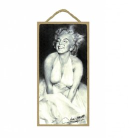Wood Door Hanger Plaques 5 x 10 Marilyn Monroe Dress