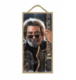 Wood Door Hanger Plaques 5 x 10 Jerry Garcia