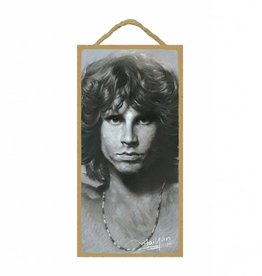Wood Door Hanger Plaques 5 x 10 Jim Morrison