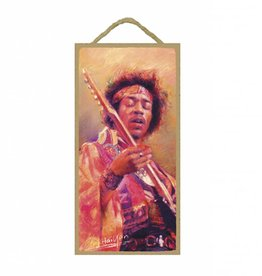 Wood Door Hanger Plaques 5 x 10 Jimi Hendrix
