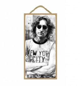 Wood Door Hanger Plaques 5 x 10 John Lennon - NYC
