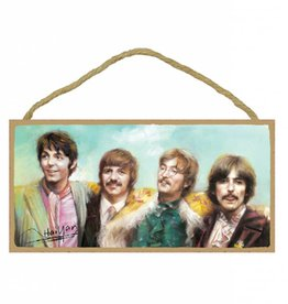 Wood Door Hanger Plaques 5 x 10 The Beatles Full Color