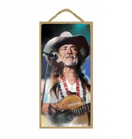 Wood Door Hanger Plaques 5 x 10 Willie Nelson