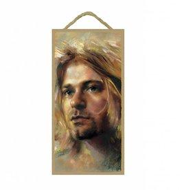 Wood Door Hanger Plaques 5 x 10 Kurt Cobain