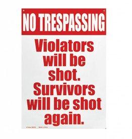 Collectable Tin Sign No Trespassing