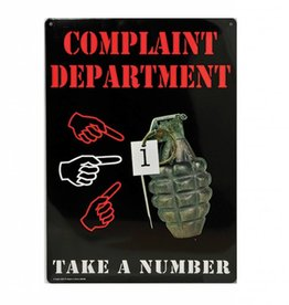 Collectable Tin Sign Complaint Department
