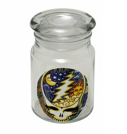 Grateful Dead Steal Your Face Glass Jar