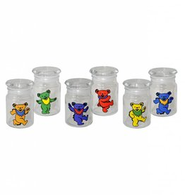 Grateful Dead Dancing Bear Glass Jar