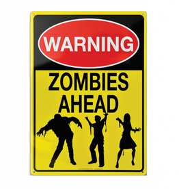 Collectable Tin Sign Zombies Ahead