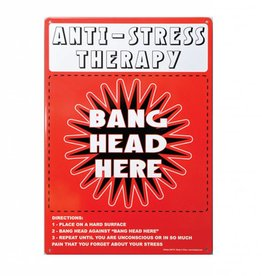 Collectable Tin Sign Anti-Stress