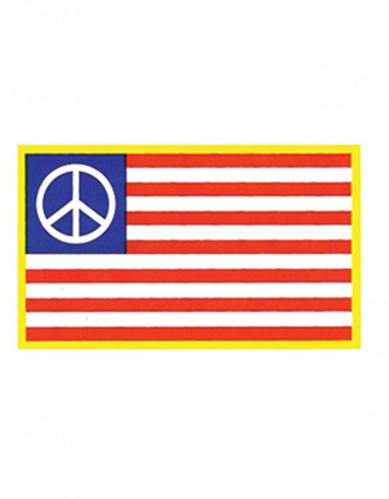 American Flag w/ Peace Sign Sticker