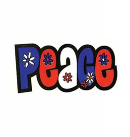 Red, White, & Blue Peace Sticker