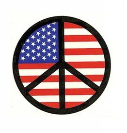 American Flag Peace Sign Sticker