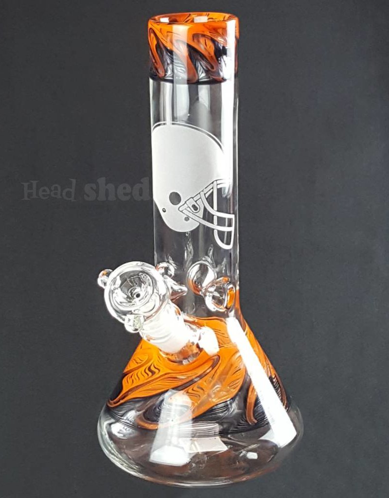 "American Made Glass (AMG) AMG - 10"" University Beaker Cleveland Browns"