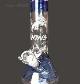 "American Made Glass (AMG) AMG - 10"" University Beaker Detroit Lions"