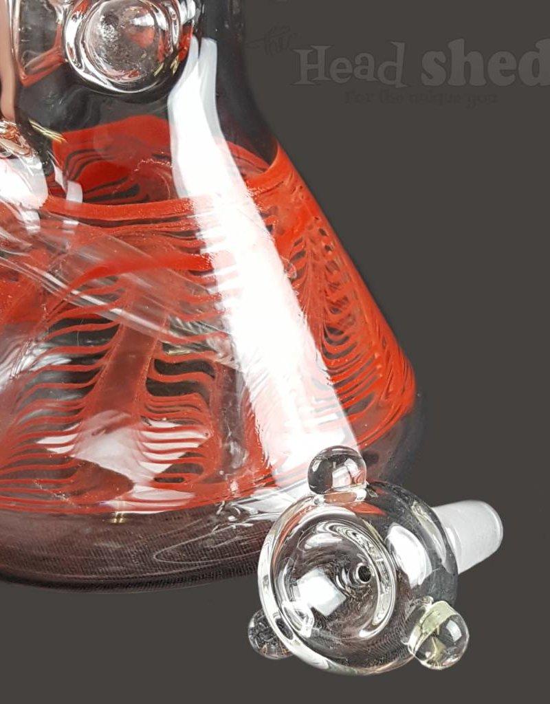 "American Made Glass (AMG) AMG - 10"" University Beaker Detroit Red Wings"