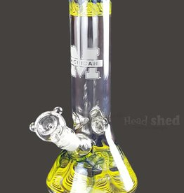 "American Made Glass (AMG) AMG - 10"" University Beaker Michigan Wolverines"