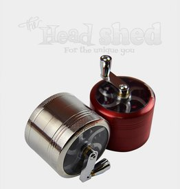 Clear Top 4-Piece Grinder w/ Hand Crank