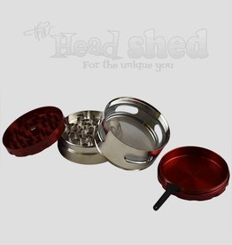 Lucky Sales - Grinder - 4pc Alloy 61mm - 2 Tone w/ 4 Windows
