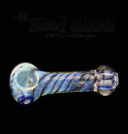 "Fumed w/ White Lines Pipe - 3""  (5491)"