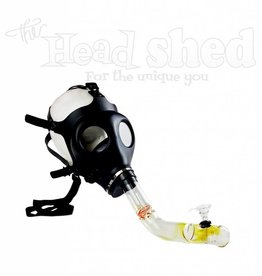 Gas Mask  w/Steamroller - Glass Water Pipe