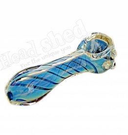 """Swirl Fumed Pipe w/ Marbles - 3"""" (6632)"""