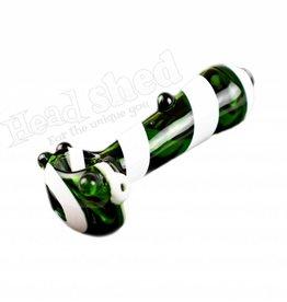 "Green Tubing Pipe w/ White Swirls & Marbles - 4"" (6681)"