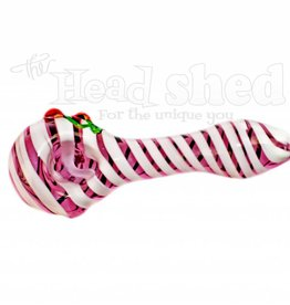 Pink Tubing Candy Cane Pipe w/ Cherries (6680)