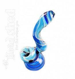"Bubbler - Blue Swirled Tubing 7"" (5365)"