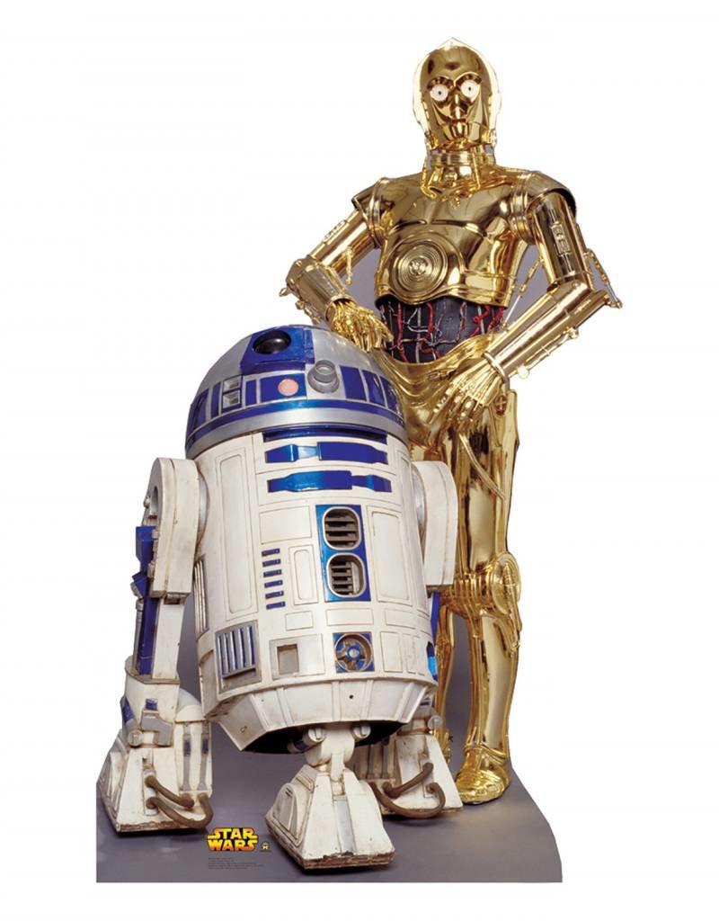 Card Board Cutout R2-D2 & C3- PO