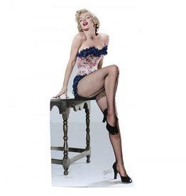 Card Board Cutout Marilyn Monroe Fishnets
