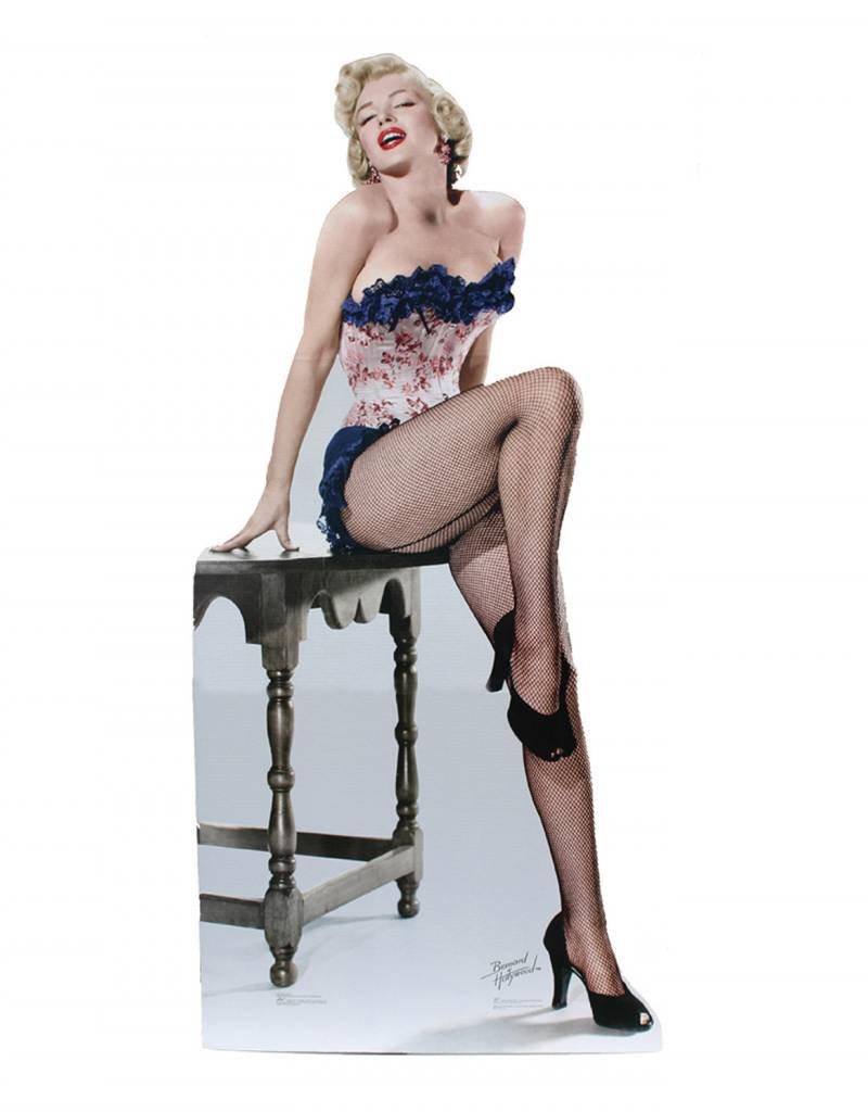 Card Board Cutout Marilyn Monroe Fishnets