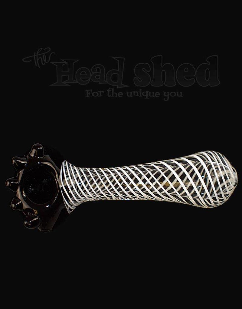 Black Head Pipe w/ Lines - JQ128 (6600)