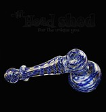 """Bubbler - Medium Two Colored Hammer 6"""" (5373)"""
