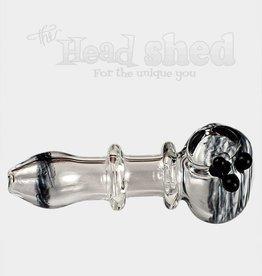 Clear Pipe w/ Latty Swirl Design (6653)